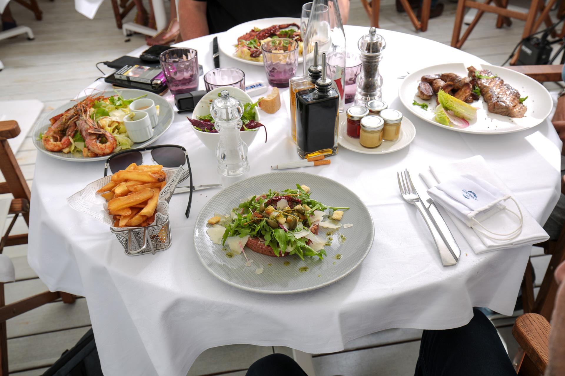 Déjeuner au restaurant de la Plage Beau Rivage