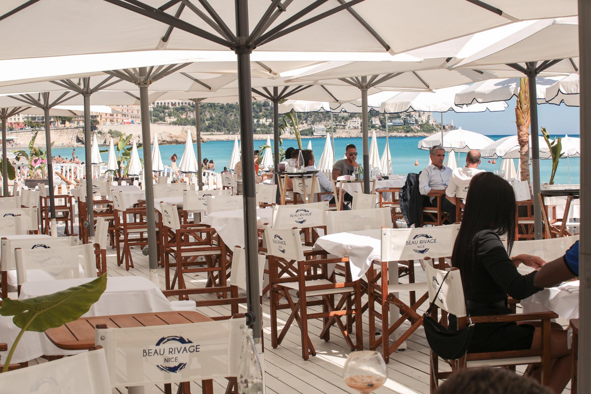 Restaurant plage privée à Nice