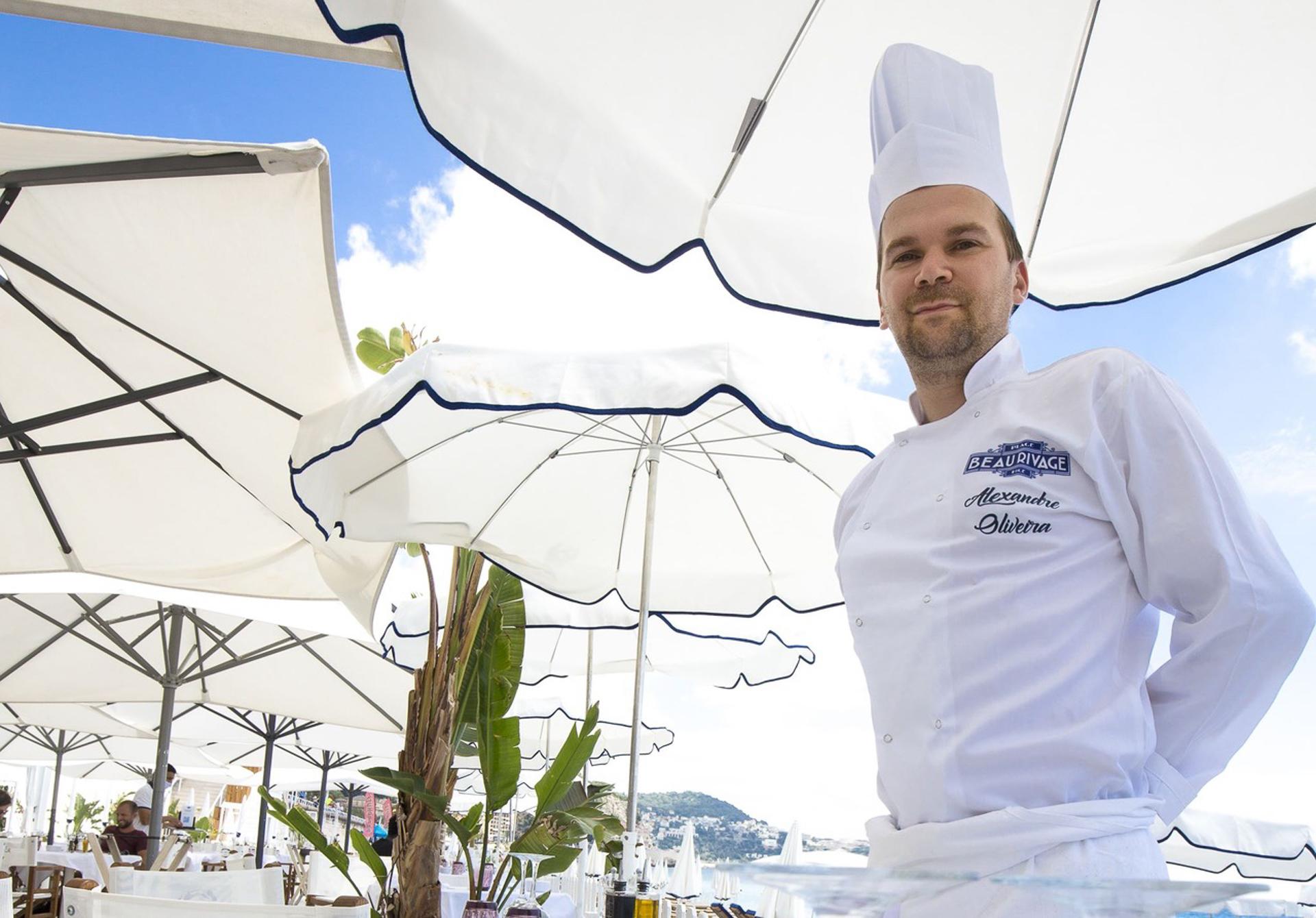 Alexandre Oliveira, chef du restaurant la Plage Beau Rivage