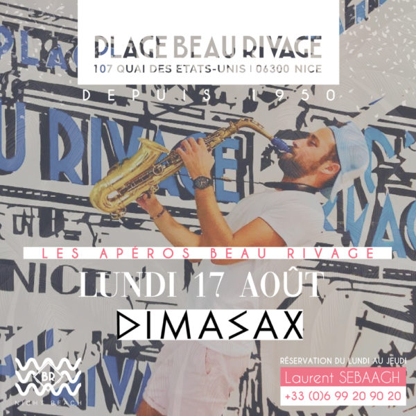 Afterwork SAX - Nice private beach Beau Rivage